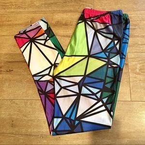 Bright Geometric Leggings